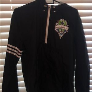 Adidas windbreaker quarter zip